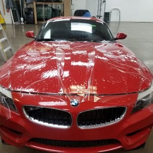 Clear Bra for red BMW AZ front