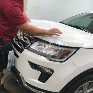 White Ford Hood Clear Bra in Mesa AZ