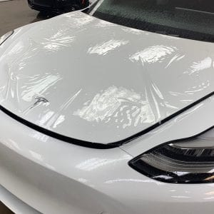 White Tesla Clear Bra in Mesa AZ