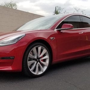 red tesla clear bra mesa az side