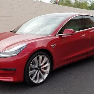 red tesla clear bra mesa az top side
