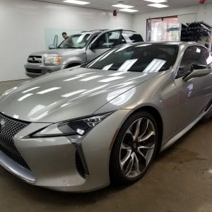 silver toyota front and side window film mesa