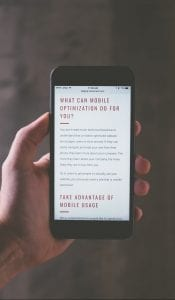 optimize your website for mobile to reach every possible customer